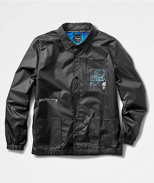 Primitive x Dragon Ball Super Super Saiyun Goku Black Coaches Jacket