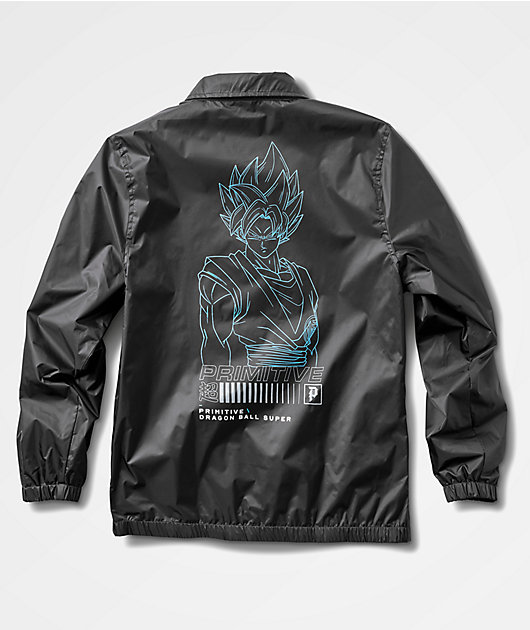 Primitive x Dragon Ball Super Super Saiyun Goku Black Coaches Jacket