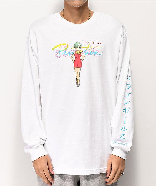 Primitive x Dragon Ball Z Bulma White Long Sleeve T-Shirt