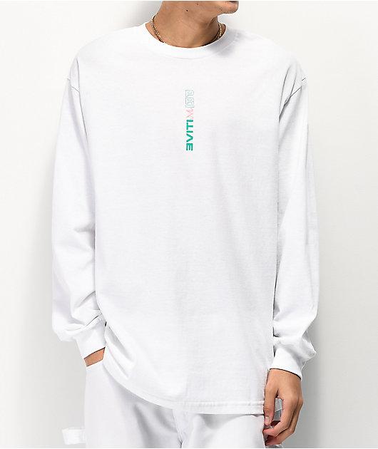 Primitive x Dragon Ball Z Majin Buu Forms White Long Sleeve T-Shirt
