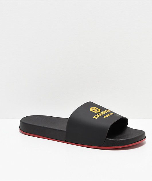 Primitive x Kikkoman Black & Red Slide Sandals