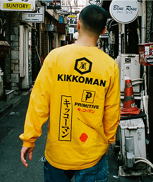 Primitive x Kikkoman Season Gold Long Sleeve T-Shirt