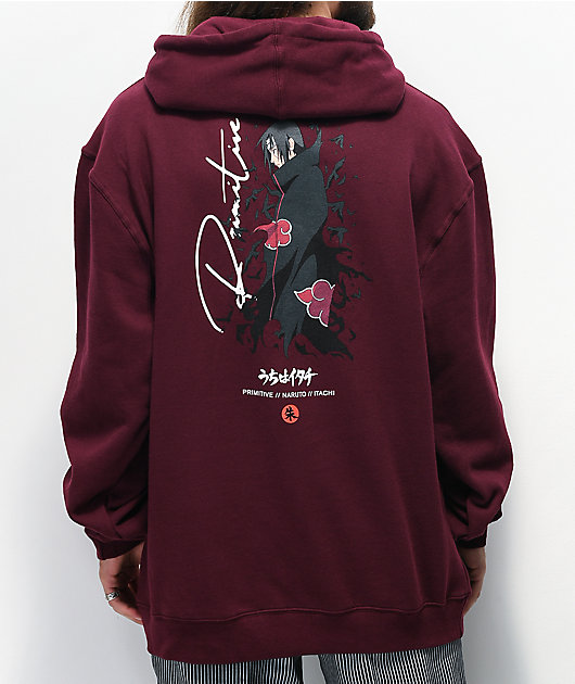 Primitive x Naruto Crows Burgundy Hoodie