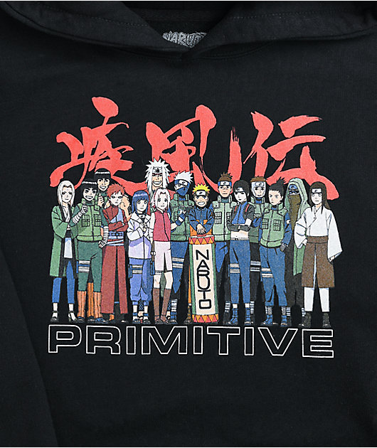Primitive x Naruto Leaf Village Black Hoodie