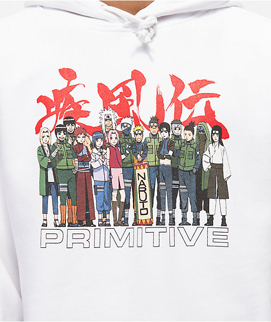 Primitive x Naruto Leaf Village White Hoodie