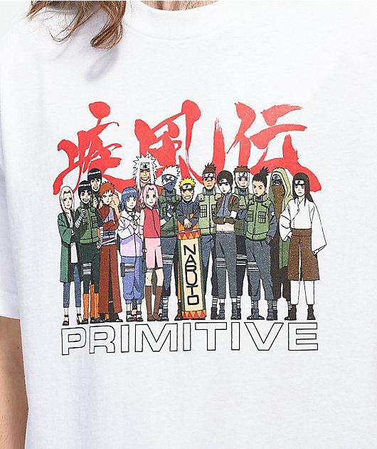 Primitive x Naruto Leaf White T-Shirt