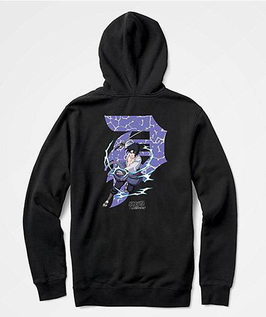 Primitive x Naruto Sasuke Dirty P Black Hoodie