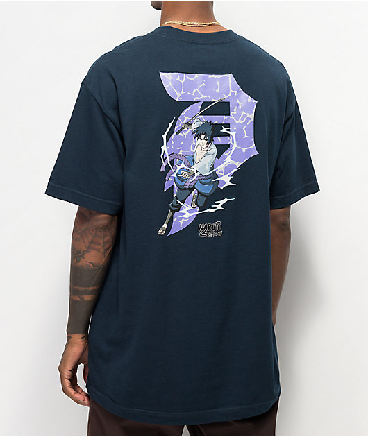Primitive x Naruto Sasuke P Navy T-Shirt