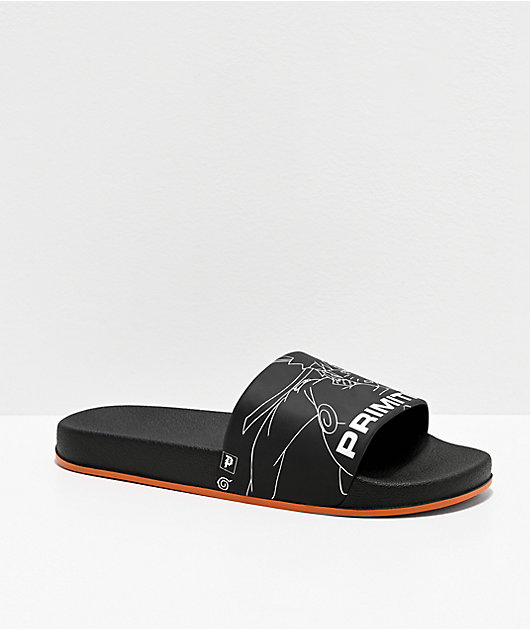 Primitive x Naruto Sasuke vs Naruto Black Slide Sandals
