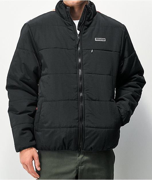 Primitive x Naruto Shippuden Black Puffer Jacket