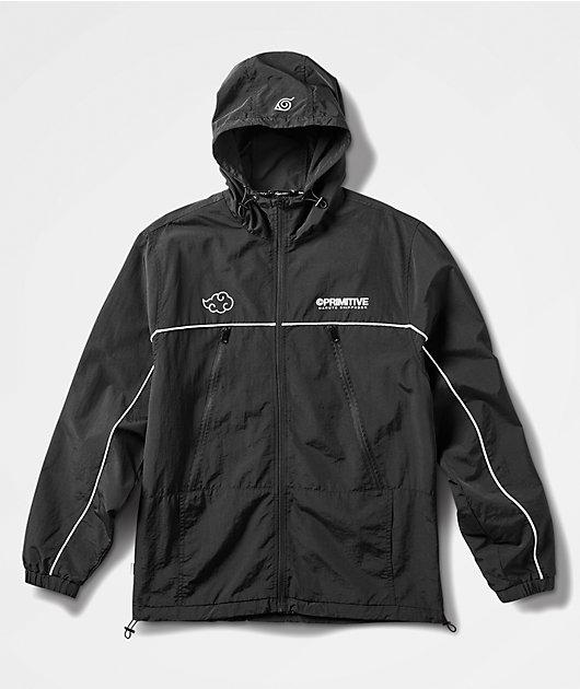 Primitive x Naruto Shippuden II Itachi Black Windbreaker Jacket