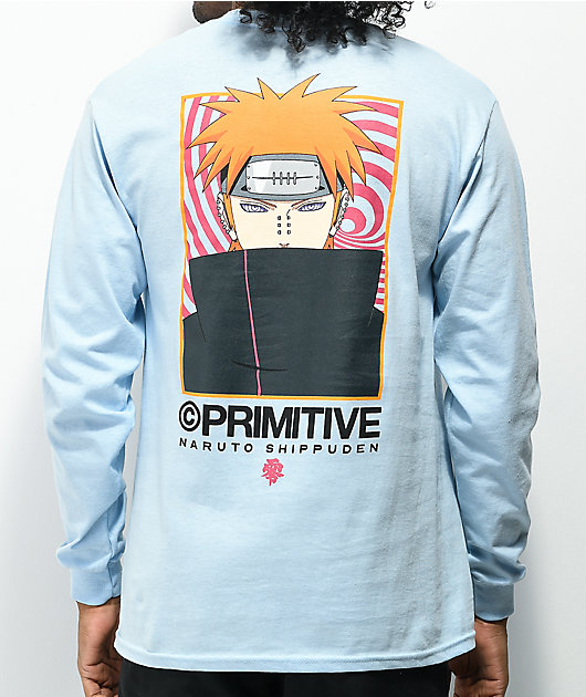 Primitive x Naruto Shippuden II Know Pain Blue Long Sleeve T-Shirt