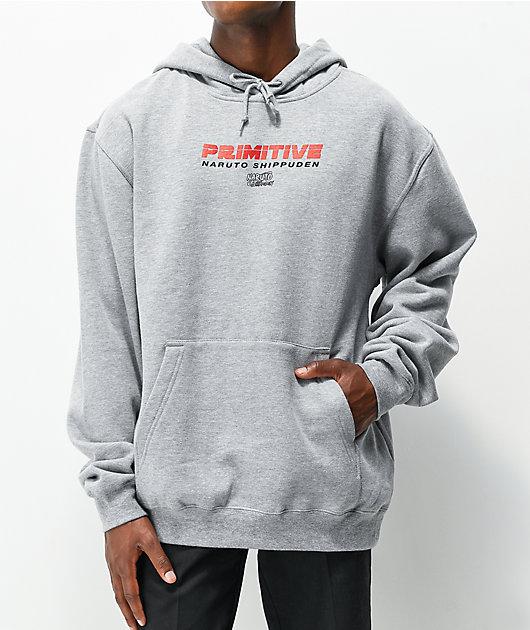 Primitive x Naruto Shippuden Itachi Uchiha Grey Hoodie