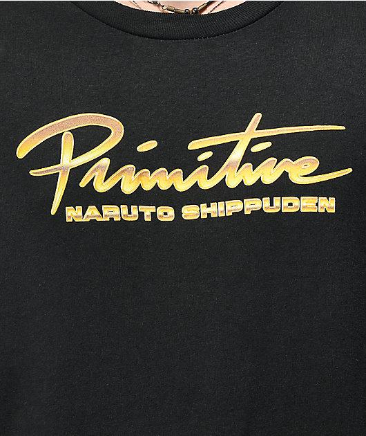 Primitive x Naruto Shippuden Kakashi Dogs Squad Black Long Sleeve T-Shirt