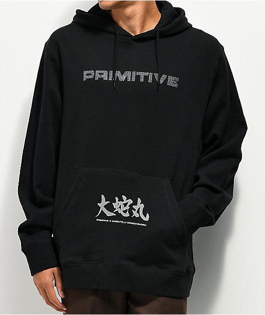 Primitive x Naruto Shippuden Orochimaru Black Wash Hoodie