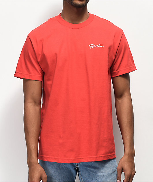 Primitive x Rick and Morty Hypno Morty camiseta roja