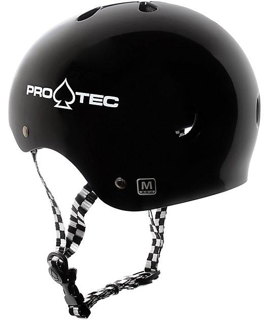 Pro-Tec Classic Black & Checkered Skate Helmet