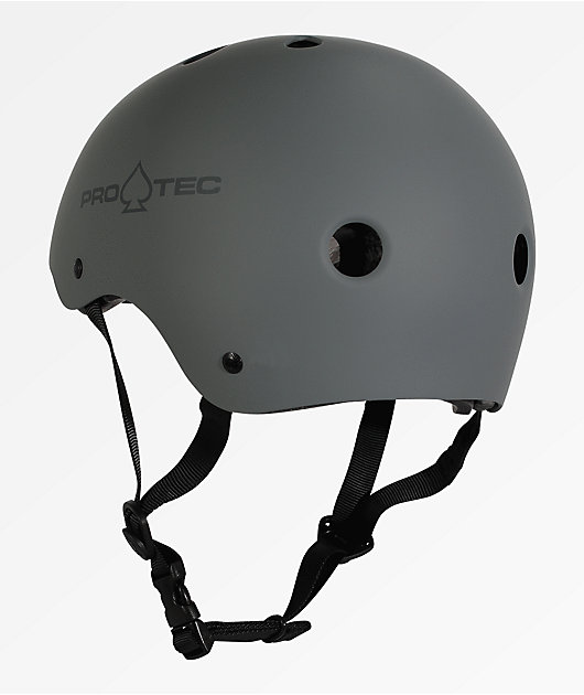 Pro-Tec Classic Matte Grey Skateboard Helmet