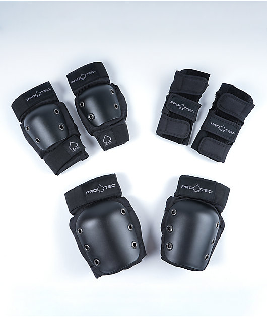 Pro-Tec Youth Medium Street Gear 3 Pack Black Protective Pads