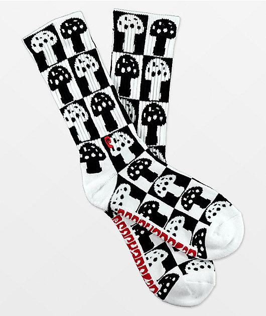 Psockadelic The Checkered Mush Crew Socks