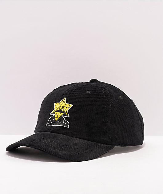 Pyramid Country Exeter Black Corduroy Strapback Hat