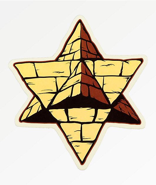 Pyramid Country Logo Sticker