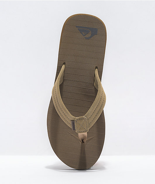 Quiksilver Carver Tan Suede Sandals