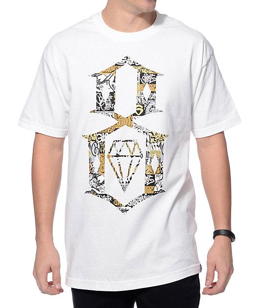 Rebel8 Logo Collage T-shirt Weiß