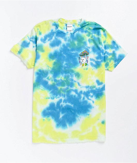 RIPNDIP Boomer Gang Yellow & Blue Tie Dye T-Shirt