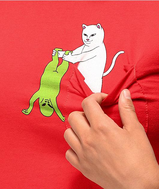 RIPNDIP Break Yo Self Red Pocket T-Shirt