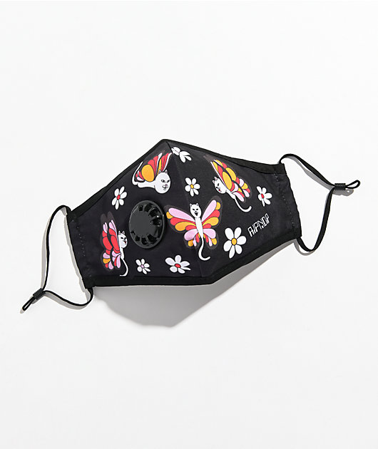 RIPNDIP Butterfly Vent Black Face Cover