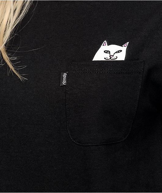 RIPNDIP Lord Nermal Black Long Sleeve T-Shirt