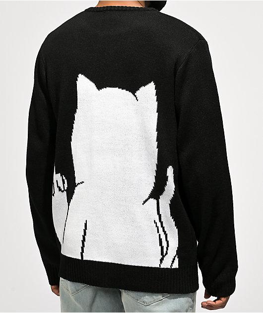 RIPNDIP Lord Nermal Black Pump Sweater