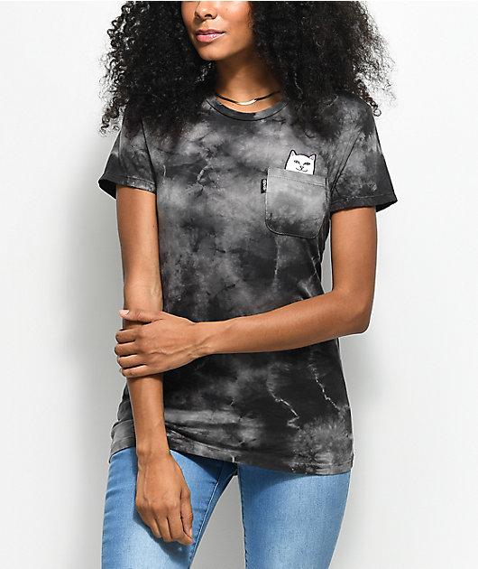 RIPNDIP Lord Nermal Black Smoke Tie Dye Pocket T-Shirt