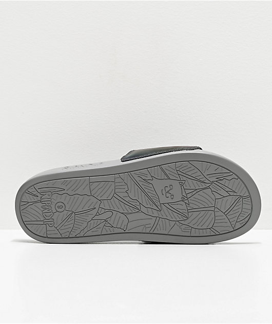 RIPNDIP Lord Nermal Iridescent Grey Slide Sandals
