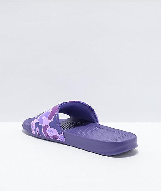 RIPNDIP Lord Nermal Purple Camo Slide Sandals