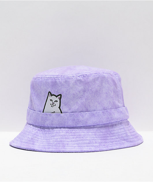 RIPNDIP Lord Nermal Purple Wash Bucket Hat