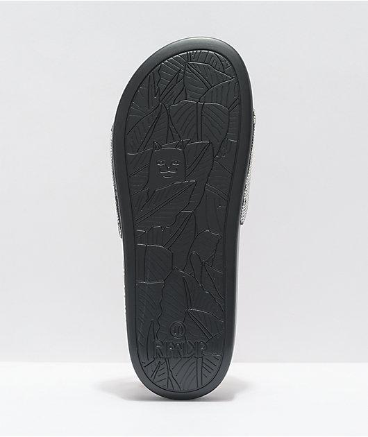 RIPNDIP Lord Nermal Rhinestone Black Slide Sandals