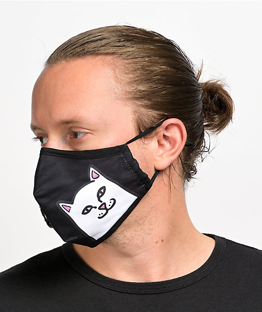 RIPNDIP Lord Nermal Vent Black Face Mask