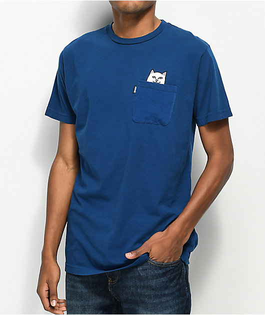 RIPNDIP Lord Nermal camiseta azul con bolsillo