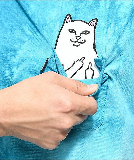 RIPNDIP Lord Nermal camiseta tie dye azul