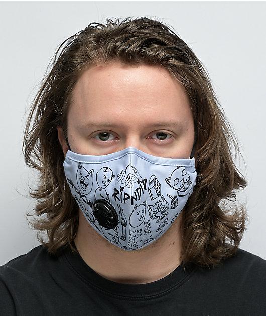 RIPNDIP Marker Grey & Black Vented Face Cover
