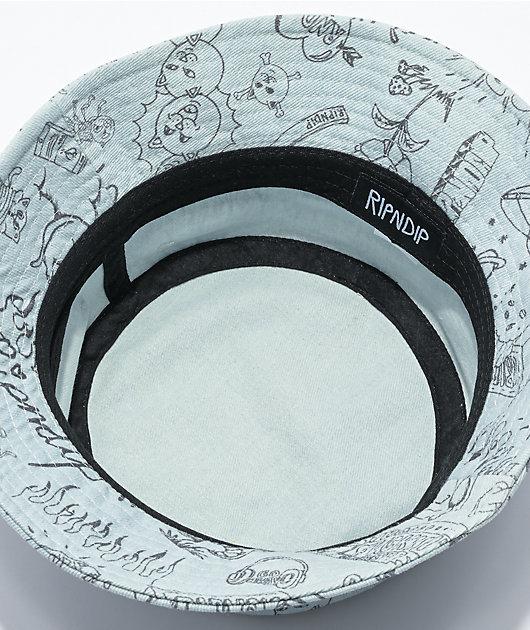 RIPNDIP Marker Grey Light Wash Denim Bucket