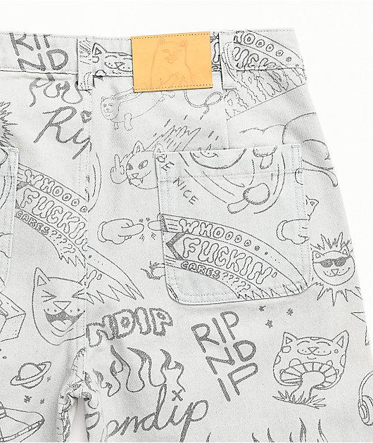 RIPNDIP Marker Light Wash Denim Chino Pants