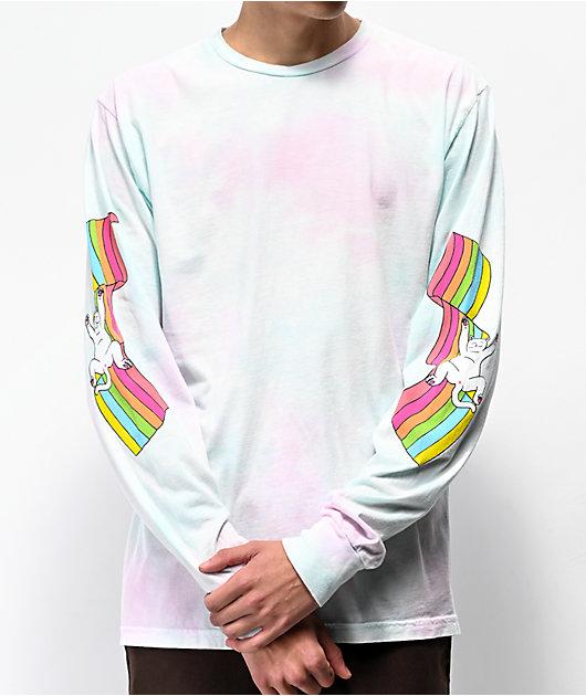 RIPNDIP My Little Nerm camiseta tie dye de manga larga
