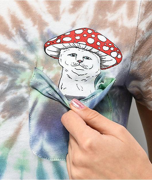 RIPNDIP Nermal Cap Green & Purple Tie Dye Pocket T-Shirt