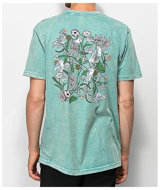 RIPNDIP Nermal Flowers Sage Vintage Wash T-Shirt