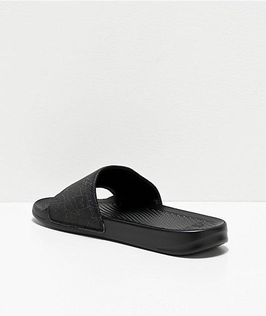 RIPNDIP Nermal Leaf Iridescent Black Slide Sandals