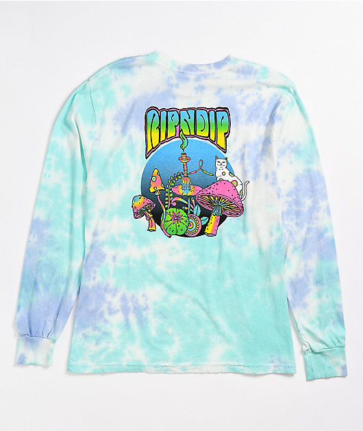 RIPNDIP Nermal Psychedelic Cotton Candy Long Sleeve T-Shirt
