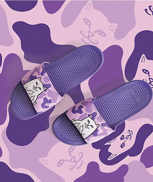 RIPNDIP Nermal Purple Camo Slide Sandals